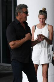 Jennifer Flavin and Sylvester Stallone is Leaving Setai Hotel in Miami 03/19/2021 7