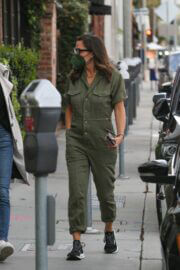 Jennifer Garner wears Olive Jumpsuit and Matching Mask as She Leaves Her Office in Brentwood 03/10/2021 5