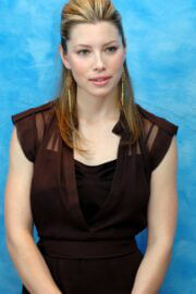 Jessica Biel Throwback Pictures of Stealth Press Conference 07/23/2005 5