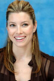 Jessica Biel Throwback Pictures of Stealth Press Conference 07/23/2005 10