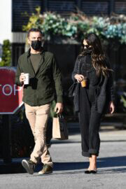 Jordana Brewster and Mason Morfit Day Out for Coffee in Brentwood 03/12/2021 2