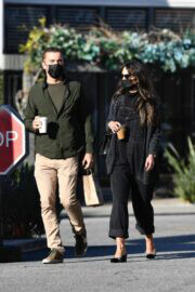 Jordana Brewster and Mason Morfit Out for Coffee in Brentwood 03/12/2021 1
