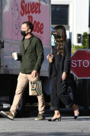 Jordana Brewster and Mason Morfit Out for Coffee in Brentwood 03/12/2021 2