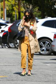 Jordana Brewster in Street Style Out in Brentwood 03/13/2021 1