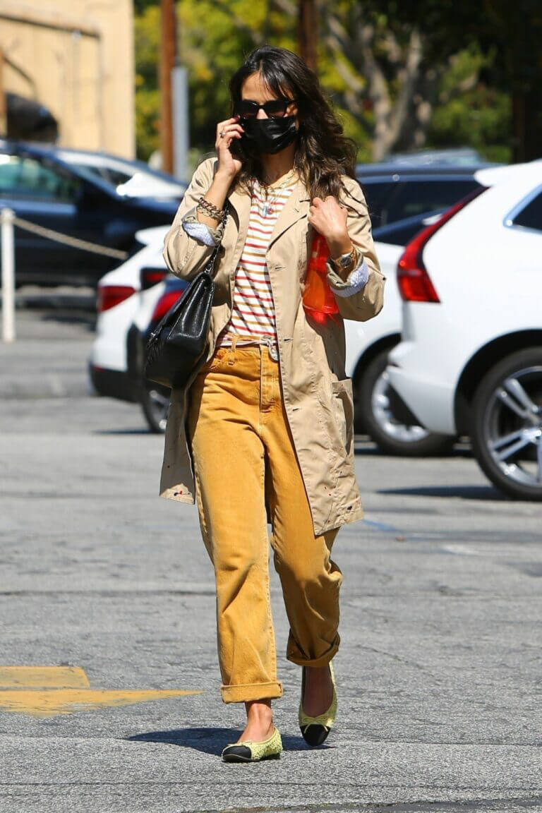 Jordana Brewster in Street Style Out in Brentwood 03/13/2021 3