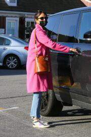 Jordana Brewster is Leaving Country Mart in Brentwood 03/22/2021 3