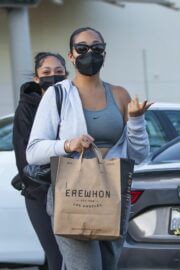 Jordyn Woods Out with Her Sister Jodie at Erewhon Organic in Calabasas 03/21/2021 3