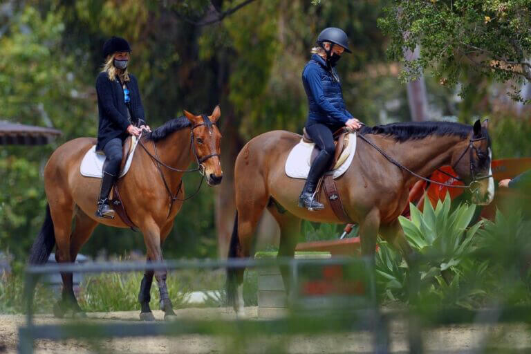 Julia Carey Horse Riding Session in Pacific Palisades 03/25/2021 1