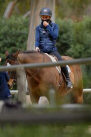 Julia Carey Horse Riding Session in Pacific Palisades 03/25/2021 3