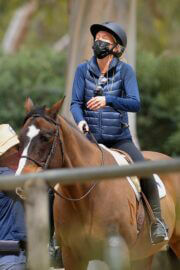 Julia Carey Horse Riding Session in Pacific Palisades 03/25/2021 4