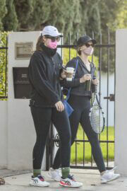 Katherine and Christina Schwarzenegger Spotted While Leaving Tennis Court in Brentwood 03/11/2021 8