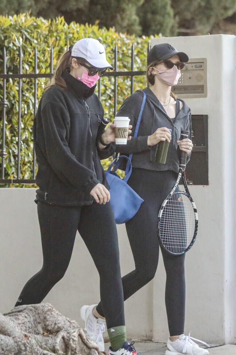 Katherine and Christina Schwarzenegger Spotted While Leaving Tennis Court in Brentwood 03/11/2021 10
