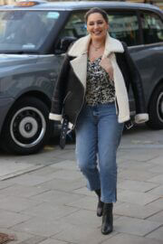 Kelly Brook in Black Leather Jacket Out and About in London 02/23/2021 3