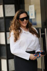 Kelly Brook with fresh look arrives at at Heart Radio in London 02/24/2021 5