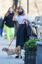 Kelly Ripa Day Out with Her Dog in New York 03/13/2021 10