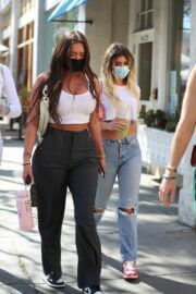 Kelsey Calemine and Anastasia Karanikolaou Spotted in Beverly Hills 02/24/2021 5