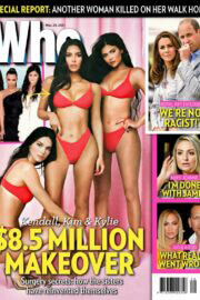 Kim Kardashian, Kendall and Kylie Jenner in Who Magazine, March 2021 7
