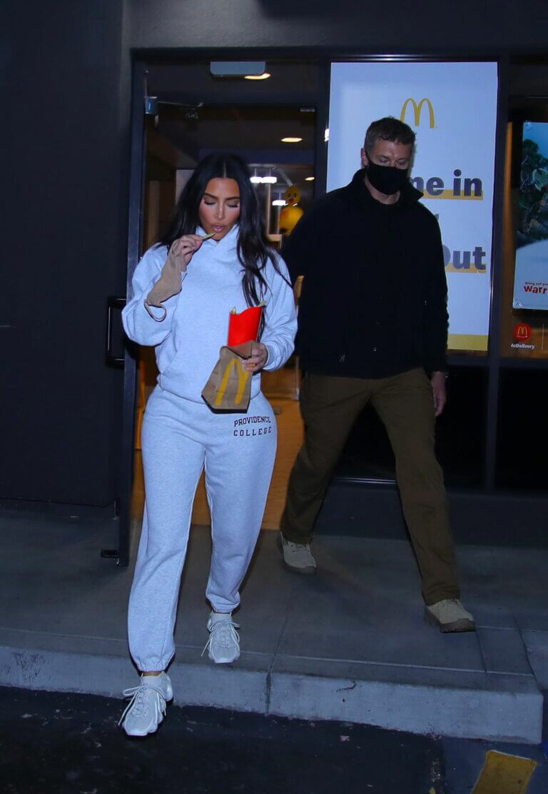 Kim Kardashian Seen at a McDonalds in Calabasas 03/16/2021 1