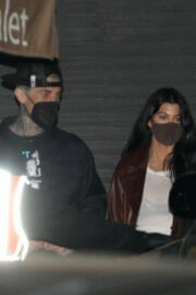 Kourtney Kardashian and Travis Barker Spotted at Nobu in Malibu 03/25/2021 1