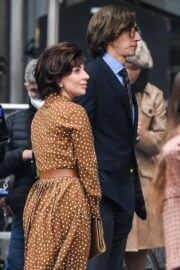 Lady Gaga and Adam Driver on the Set of The House of Gucci in Milan 03/11/2021 3