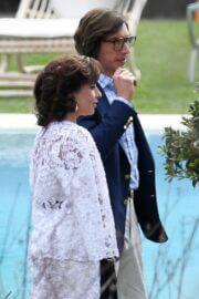 Lady Gaga and Adam Driver Seen on the Set of House of Gucci at Lake Como 03/17/2021 5