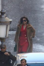 Lady Gaga Arrived on the Set of House of Gucci in Rome 03/31/2021 3