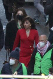 Lady Gaga Arrived on the Set of House of Gucci in Rome 03/31/2021 5