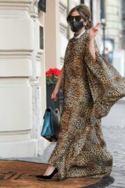 Lady Gaga in Leopard Dress Out and About in Rome 02/24/2021 2