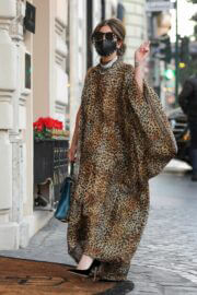 Lady Gaga in Leopard Dress Out and About in Rome 02/24/2021 5