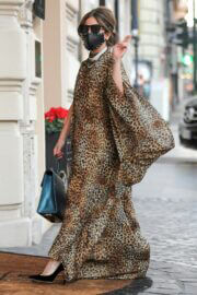 Lady Gaga in Leopard Dress Out and About in Rome 02/24/2021 10