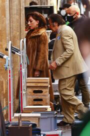 Lady Gaga is Arriving on the Set of House of Gucci in Rome 03/31/2021 1