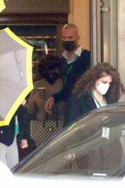 Lady Gaga is Seen Leaving Her Hotel in Rome 03/24/2021 2
