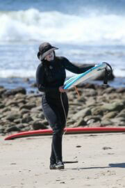 Leighton Meester Out and About Surfing in Malibu 03/20/2021 8