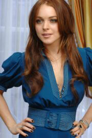 Lindsay Lohan Throwback Pictures of Just My Luck Press Conference 04/28/2006 5