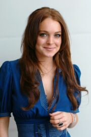 Lindsay Lohan Throwback Pictures of Just My Luck Press Conference 04/28/2006 10