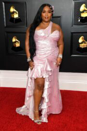Lizzo Seen at 2021 Grammy Awards in Los Angeles 03/14/2021 3