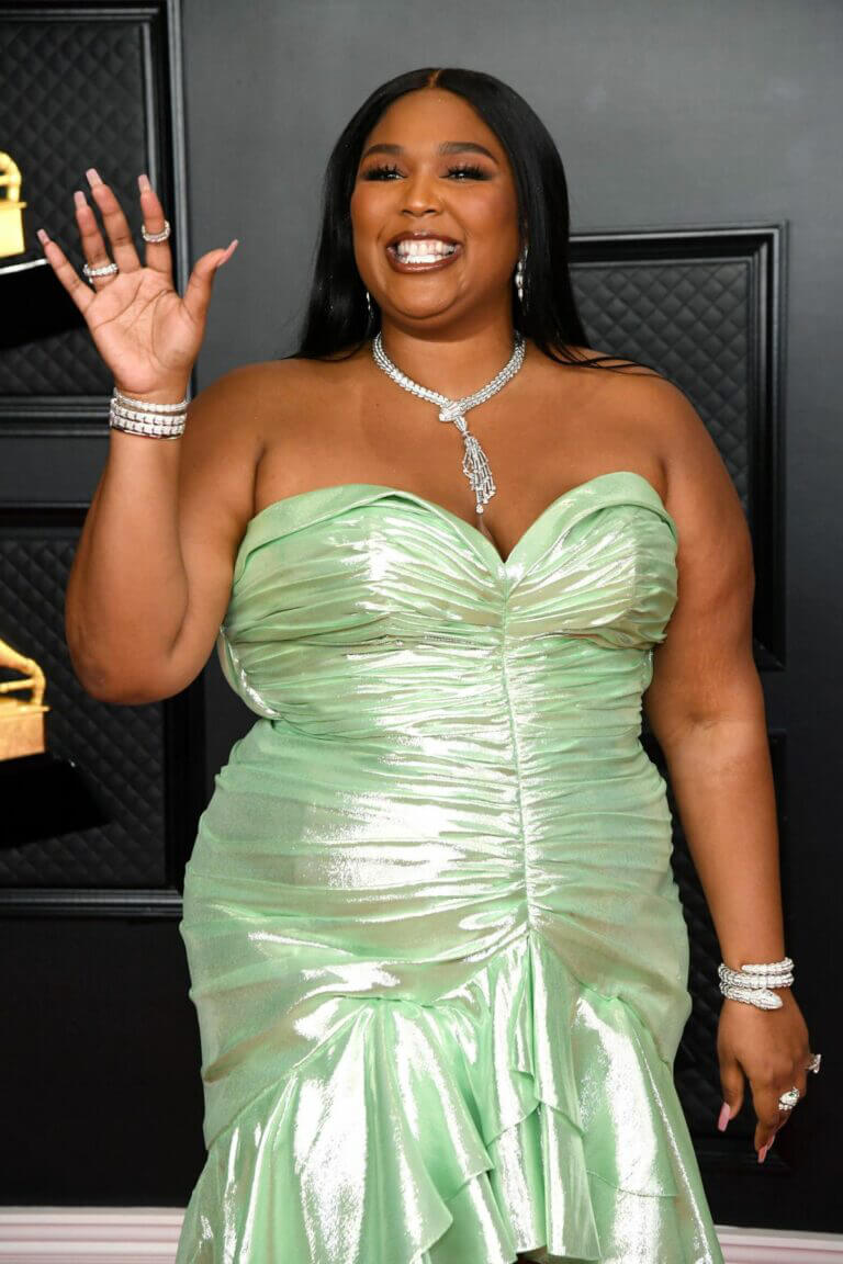 Lizzo Seen at 2021 Grammy Awards in Los Angeles 03/14/2021 7