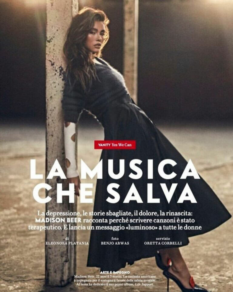 Madison Beer on the cover page of Vanity Fair Magazine, Italy March 2021 2