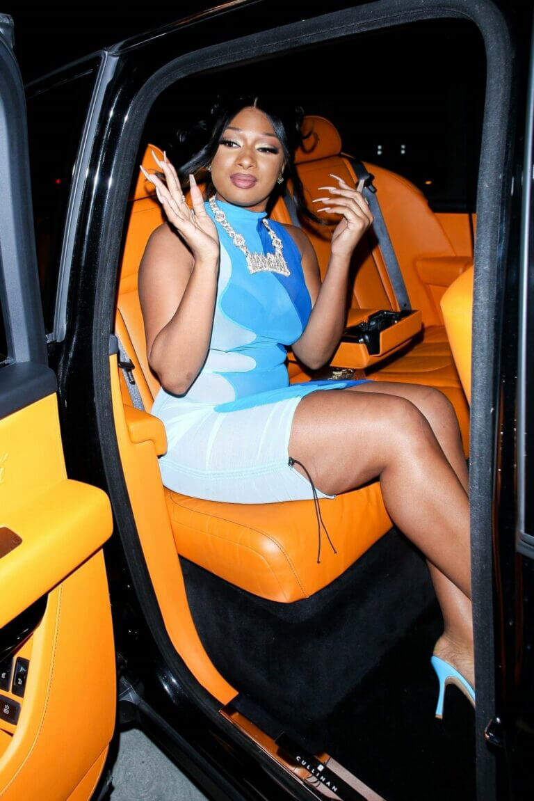 Megan Thee Stallion Attends Her Grammy After Party in Hollywood 03/14/2021. 7