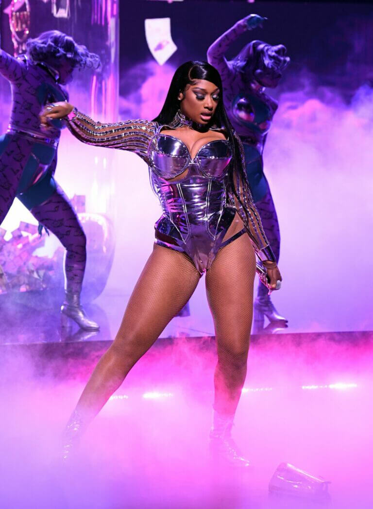 Megan Thee Stallion Give Performance at 63rd Annual Grammy Awards 03/14/2021 3
