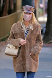 Nicky Hilton in a Beige Coat Out and About in New York 02/24/2021 5