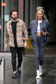 Olivia Attwood and Bradley Dack On The Set Of 'Olivia Meets Her Match' in Manchester 02/24/2021 7