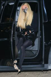 Paris Hilton Night Out in Black Outfit in Malibu 02/23/2021 5