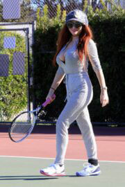 Phoebe Price Plays Tennis at Tennis Court in Los Anegeles 02/23/2021 1