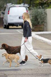 Portia de Rossi Steps Out with Her Dogs in Montecito 03/14/2021 2