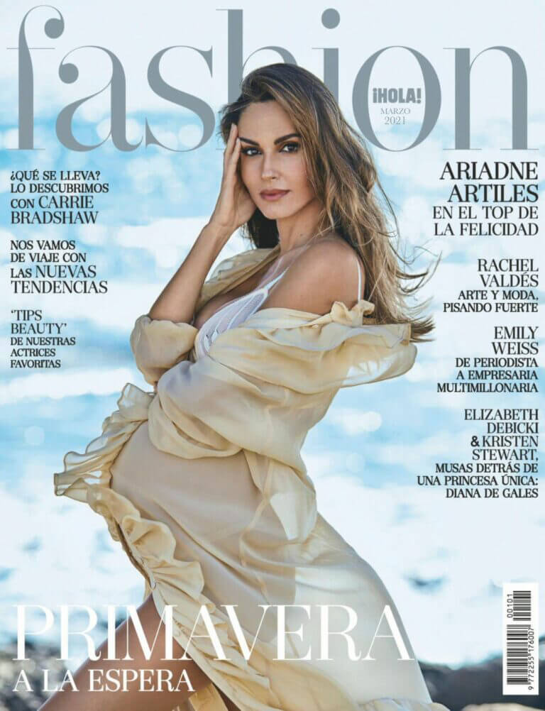 Pregnant Ariadne Artiles On The Cover Page Of Hola Fashion Magazine, March 2021 10