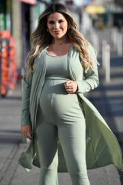 Pregnant Georgia Kousoulou Spotted on the Set of The Only Way is Essex 03/09/2021 2
