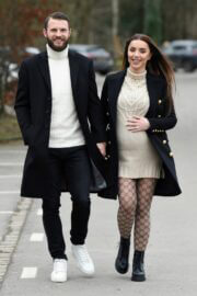 Pregnant Nermina Pieters with her Hubby Erik Out in Alderley Edge 02/24/2021 3