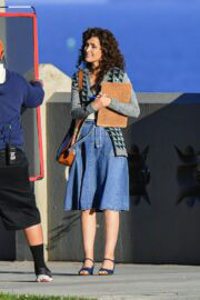 Rose Byrne Looks Retro Chic in a Denim Outfit on the Set of 'Physical' in Los Angeles 03/09/2021 2