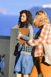 Rose Byrne Looks Retro Chic in Denim Outfiton the Set of Physical in Los Angeles 03/09/2021 2